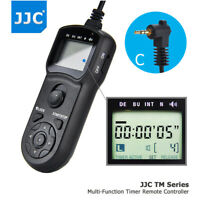 JJC LCD Timer Remote Control for Canon M6 M5 Rebel T7 T7i T6 T6s T5i T4i T3i T2