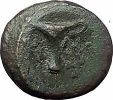 KYME in AEOLIS   Original 350BC Authentic Ancient Greek Coin EAGLE & VASE i63262