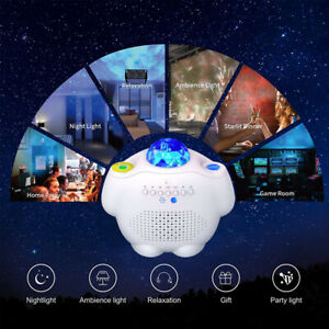 Galaxy Projector Star Starry Sky Night Light Party LED Lamp w/ Remote Bluetooth