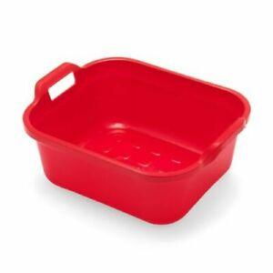 Addis Washing Up Dish Washing Bowl Large Rectangular Plastic With 2 Handles 10L