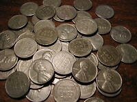 1943-S LINCOLN STEEL WHEAT CENT PENNY ROLL (50 COINS)