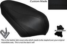 BLACK STITCH CUSTOM FITS ITALJET TORPEDO 125 LEATHER SHORT SEAT COVER