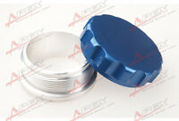 """2"""" 50.8mm Aluminium Alloy Weld On Filler Neck And Cap Oil, Fuel, Water Tank Blue"""