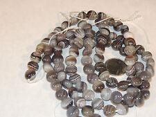 Botswana Agate 12mm Flat round Gemstone Beads (4253)