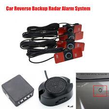 Auto Car Parking Reverse Backup Radar System Kit 4x 16mm Flat Sensors Waterproof