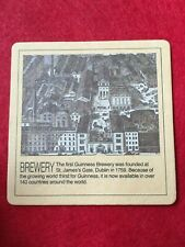 BEER MAT COASTER - TWO  SIDED - GUINNESS BREWERY    (FF79)