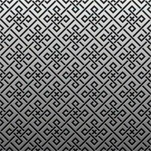 Silver platinum Pattern Tile Stickers for 150mm x 150mm / 6x6 In 4x4 In A18