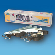 AWNING STORM TIE DOWN KIT HEAVY DUTY HOOK & RATCHETS 3 x 3 METRE STRAPS CARAVAN