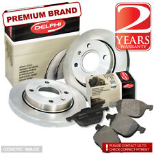VW Caddy 1.9 D Pickup 63bhp Front Brake Pads & Discs 256mm Solid