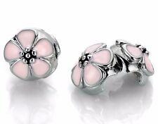 Cherry Blossom Clip Bead Fits European Charm Bracelets - US Seller