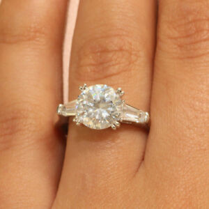 2.00 ct Round Cut Diamond Engagement Ring 14kt Solid White Gold Solitaire 7.5