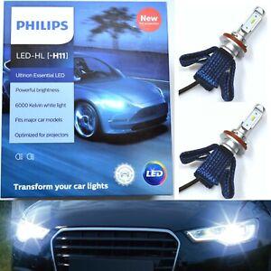 Philips Ultinon LED G2 6000K White H11 Two Bulbs Head Light High Beam Upgrade K