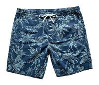 Polo Ralph Lauren Mens Big & Tall Tropical Hawaiian Print Shorts Blue Green