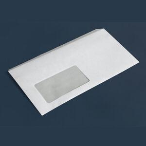 Briefumschlag DIN lang selbstklebend weiß Briefumschläge mit und ohne Fenster