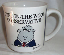 Vintage Dyed In The Wool Conservative Republican Coffee Mug Boynton Japan Sheep