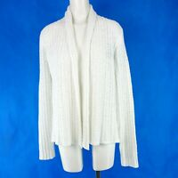 Repeat Ladies Women's Jacket Knitted Knit Cardigan Jacket White Crochet Look New