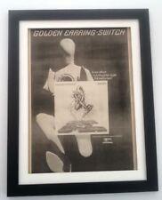 GOLDEN EARRING Switch 1975*ORIGINAL*POSTER*AD*FRAMED*FAST WORLD SHIP