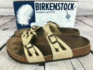 BIRKENSTOCK Granada Sandals Slides SOFT FOOTBED Tan Size US 9 / 40 GERMANY