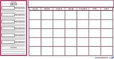 College Student Planner and Wall Calendar - Red - Monthly Calendar, Class Sch...