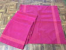 Vintage CP World Market 100% Cotton Red/Dk Pnk Place mats & Napkins 11 pcs India