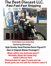 Biker Bull Dog American Diorama 1:24 Figure Will fit on a 1:24th scale motorcycl