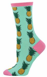 NEW Womens Fun Novelty Socks Pineapples Wintergreen - Sock Size 9-11