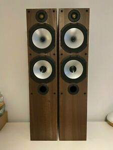 Monitor Audio MR4 Walnut Floor Standing Speakers - Great condition - Boxed