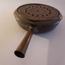 Bassinoire cuivre bois fait main copper basin handmade art déco XIXe XXe France