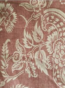 Pottery Barn Alessandra Scroll Terracotta Red Button Top Duvet Cover Queen