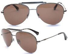 Emporio Armani Damen Herren Sonnenbrille EA1020 3003 Braun 57mm silber BF109 T49