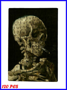 Van Gogh-Skull of Skeleton with Burning Cigarette  - 120 Piece Jigsaw Puzzle