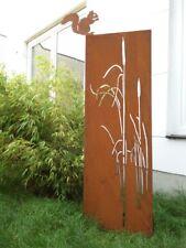Edelrost Garten Sichtschutz Wand mit Eichhörnchen Rost Sichtschutzwand 150*50 cm