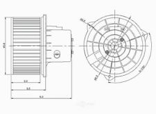Global Parts Distributors 2311624 New Blower Motor