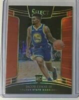 Jacob Evans III *Red* rookie 2018-19 Panini Select #60/199 - Golden State