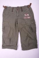 G-Star Raw 3301 kurze Hose Dreiviertel Hose mit Seitentaschen Grün Herren Gr. S