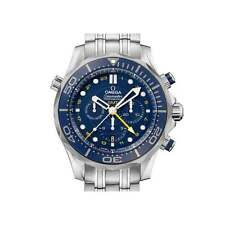 Omega SEAMASTER DIVER GMT Cronografo 212.30.44.52.03.001 - MAI INDOSSATO BOX & Papers