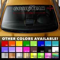 """GOODYEAR TIRES OUTLINE Windshield Banner Vinyl Decal Sticker 33x6.5"""""""