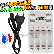 CHARGEUR RAPIDE 4 PILES AA OU AAA HYPER-PS NiZn NiMH 1.6V • CORDON EU