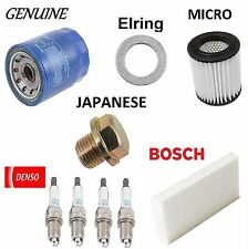 Tune Up KIT Spark Plugs Cabin Air Oil Filters for Honda Element 2003 2005