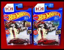 Hot Wheels Super Treasure Hunt Cruella De Vil 2018 With Factory Set Sticker 50th