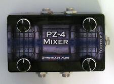 """4-Channel Passive Mixer PZ-4 - Compact 1/4"""" Mono to 1/4"""" Mono Switchblade Audio"""