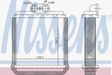 Wärmetauscher, Innenraumheizung für Heizung/Lüftung NISSENS 73751