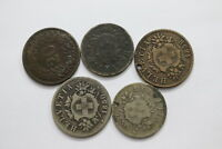 SWITZERLAND 10 + 20 RAPPEN - 5 COINS LOT B11 XG50