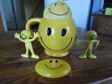 Five Piece Smiley Face Mug Lot