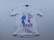 Vtg 90s Toga Mens 1994 Race Across America Team SCOR Bike Cycling Jersey Sz M