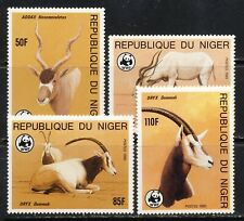 Niger WWF Addax,Oryx antelope set Scott 688-91 mnh vf 24.25