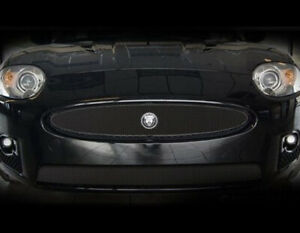 Jaguar XKR Black Upper Replacement & Lower Bumper Mesh Grille Set w emblem 07-11