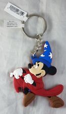 Disney Parks Mickey Mouse Sorcerer Fantasia PVC Keychain - NEW