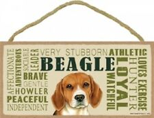 Beagle Subway Style Dog Sign wood Wall Hanging Plaque puppy Usa Loyal Peaceful