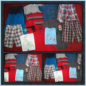 HUGE LOT~BOYS SUMMER CLOTHES SHIRTS & SHORTS OLD NAVY US POLO HAWK SIZE 10-12